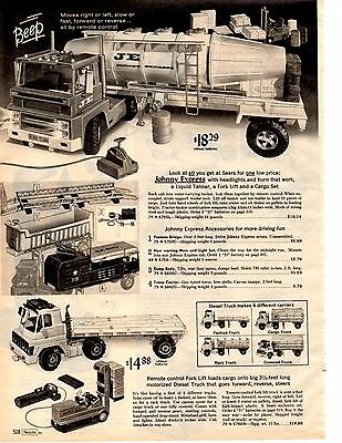 1966 Sears Christmas catalog page Moon McDare Johnny Express Semi Troop Carrier