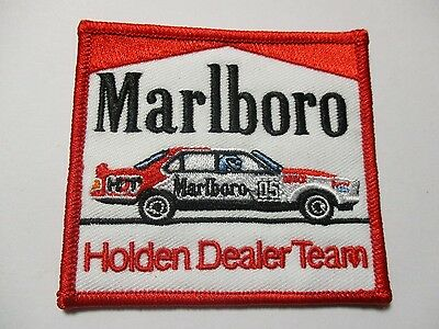 Marlboro Peter Brock Holden Dealer team patch Sew/iron  racing biker motorcycle