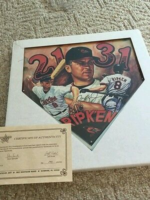 Cal Ripken autographed Litho home plate with Certificate of Authenticity. # 177