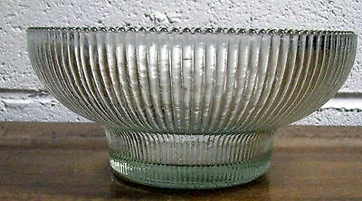 Vintage Hoosier Glass 4054 Clear Ribbed Glass Bowl