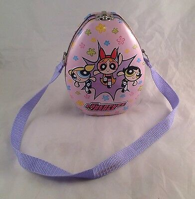 The Powerpuff Girls Tin Tote Strap Lunch Box Cosplay Purse Toy Pink