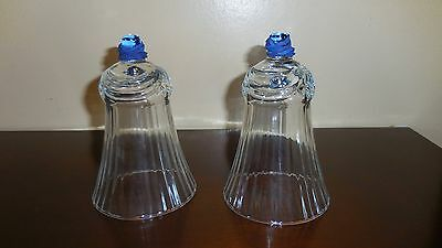 2 Home Interiors Homco  Glass Votive Cups Sconce Candle Holders