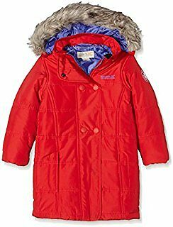 Regatta Wishful Girls Parka In Red Size 3-4 Years Brand New With Tags