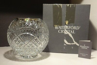 """*RARE* Waterford Crystal CECILY Master Cutter Rose Bowl 8"""" Made in IRELAND Box"""