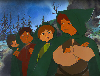 THE LORD OF THE RINGS ANIMATION ART: ORIGINAL RALPH BAKSHI CELS + Free Autograph
