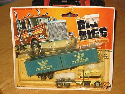 1981 Zee Toys Ho Scale Big Rigs Addidas Semi Tractor Trailer In Package