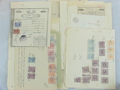 Syria Syrie French Occ. 66 Document 286 Revenue Stamps Incl Hedjaz, Halab & ADPO