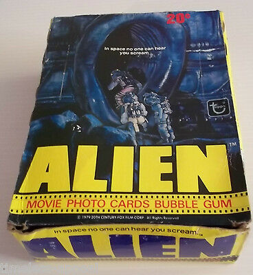 1979 Topps Alien Trading Cards Empty DISPLAY BOX Bubble Gum Cards No Wax Packs