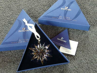 Swarovski Crystal Christmas Ornament 2011 20 Years Limited Edition New In Box