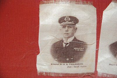 WWI Admiral sir Callaghan - old England Silk Print, early 1900th yy