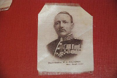 WWI Major-General Pulteney - old London Silk Print, early 1900th yy