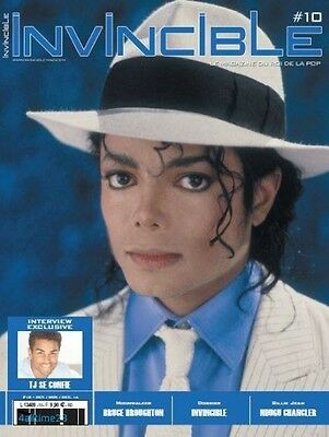 MICHAEL JACKSON +  4 POSTERS ~ INVINCIBLE Magazine #10 ~ Collector ~ Oct 2016