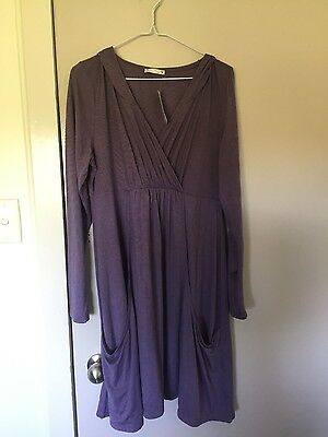Target maternity purple hooded tunic size 16