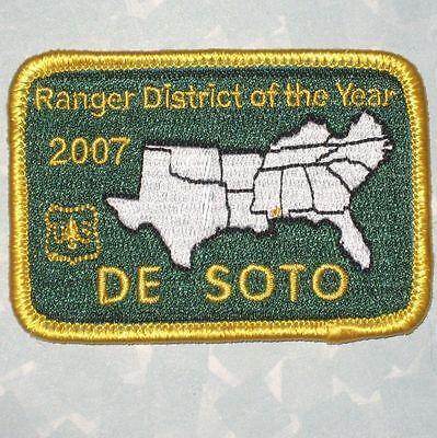Ranger District of the Year 2007 Patch - DeSoto Mississippi