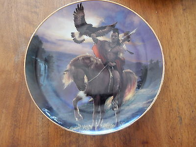"""Franklin Mint Indian Collector Plate  NO Certificate """"SPIRIT OF THE EAST WIND"""""""