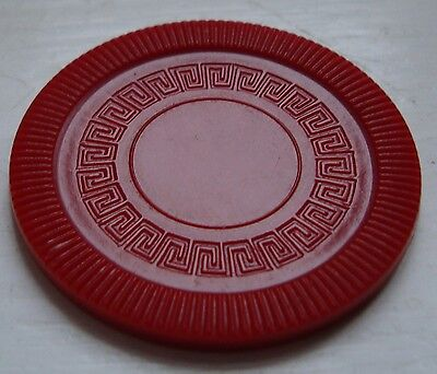 "Vintage ""Pleasantime"" plastic poker chips ~ 48 white, 25 red, 24 blue"