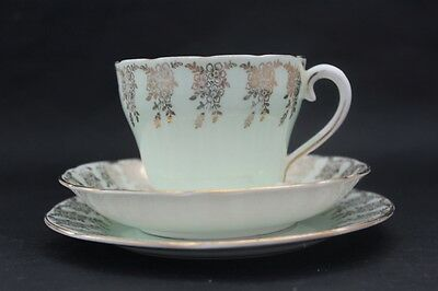 ADDERLEY fine bone china cup, saucer plate trio. Pattern H452. Made in England.