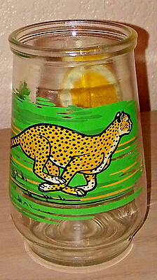Welch's Jelly Glass Jar Endangered Species WWF CHEETAH #4 in Series 1995
