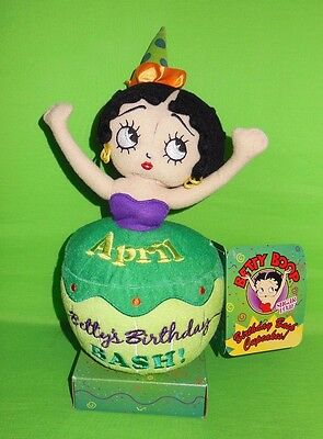 """april"" Birthday Bash Betty Boop Cupcake Sugarloaf Plush!"