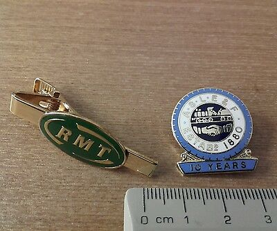 Railway Union badges Aslef RMT