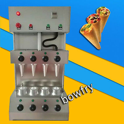 Commercial Pizza Cone Forming Making Machine with Rotational Pizza Oven 110V