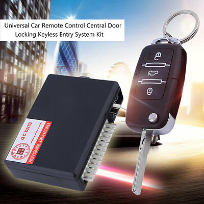 Universal Car Remote Control Central Door Locking Keyless Entry System Kit NS