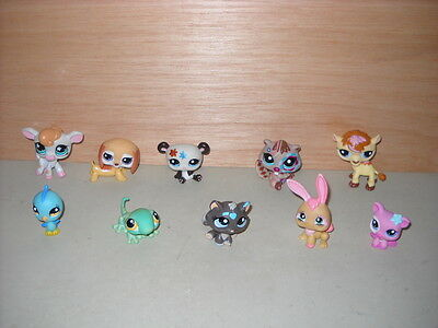 LPS 10 Littlest Pet Shop Animal Figures Lot (F) By Hasbro