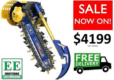 Trencher attachment for Posi Track Loaders and Skid Steer Loaders