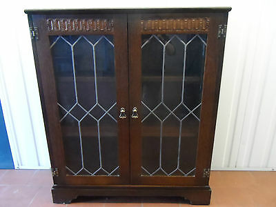 Old Charm Style Oak Display Cabinet