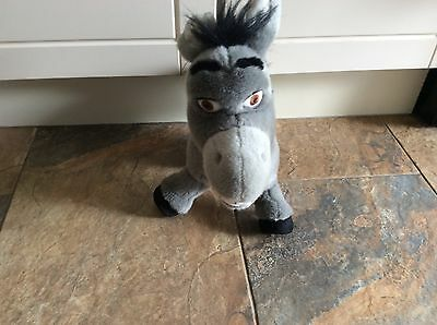 """shrek  donkey teddy soft toy 2003 15"""" tall 15"""" long.  stands up"""