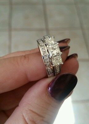 18ct white gold Wedding & Engagement Ring. Less than half valuation price