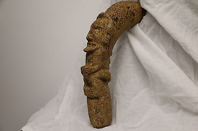 Taino Stone Anthropomorphic Cohoba Pestle 100% Authentic Pre-Columbian