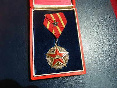 R Order medal badge China Chinese Soviet-Chinese SILVER