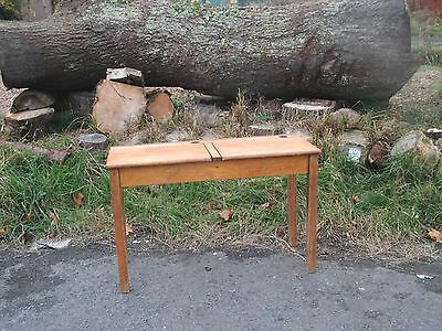 1950s Retro Adult Kids Old Double Twin Vintage Wooden School Lift Up Desk Table,