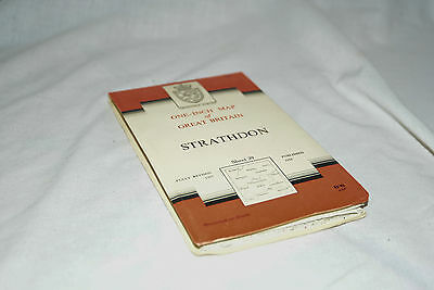 Nice Vintage Ordnance Survey Seventh Series CLOTH Map:  STRATHDON, 39