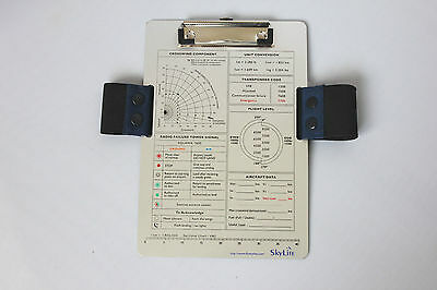 SkyLite VFR/IFR Aviation Aluminium Kneeboard For Pilot and Student