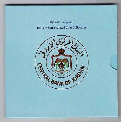 Jordan 2000 5 Coins Mint Set,with Cover,brilliant Uncirculated New