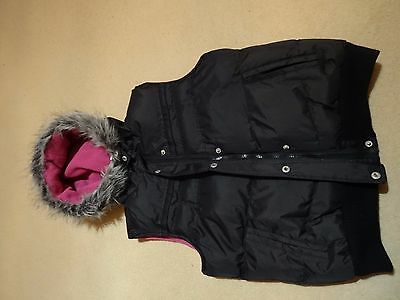 Girls black gillet/body warmer , age 11/12