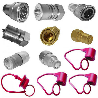 Hydraulic Quick Release Couplers & Probes, Flat Faced Steel & Brass,Caps, Plugs