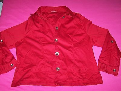 Women's Red Summer Jacket ::: Size 18 - 20 ::: GoRGeOUS