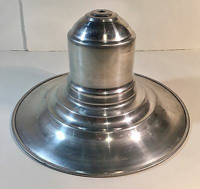 Antique Aluminium Fisherman's Light Shade Pendant (Ceiling Light)