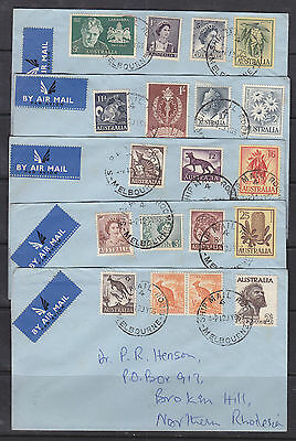 1963 Ships Mail Room Melbourne Selection Of 5 Covers.
