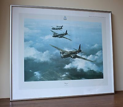 Wellington Bomber Print Robert Taylor Signed by RAF Pilot Bill Townsend War Gift