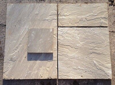 Raj Green- Patio Pack- 18.18m2- Garden Stabs-Natural Stone- Indian Sandstone