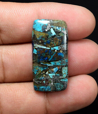 Excellent  ! 21.90 Cts. Natural Silver  Azurite Cushion Cab Loose Gemstones
