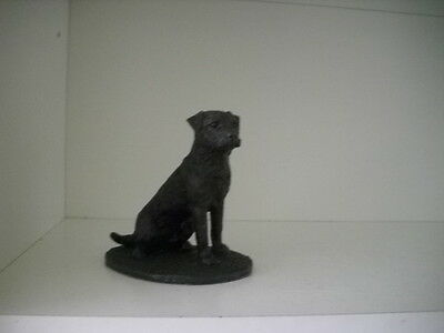 Border Terrier In Cold Cast Bronze Figurinecollectable