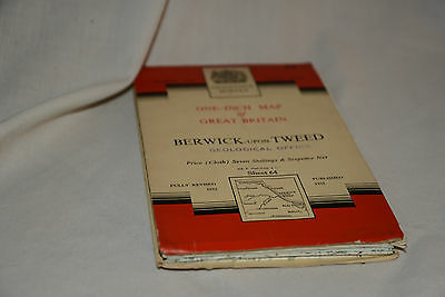 Nice Vintage Ordnance Survey Seventh Series CLOTH Map: BERWICK UPON TWEED 64