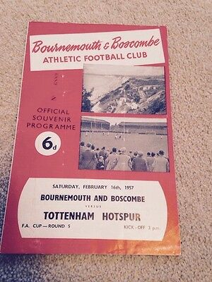 Bournemouth V Tottenham Spurs FA Cup 5th Rd 1956/57