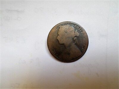 1875 Victoria One Penny-(Combined Postage)