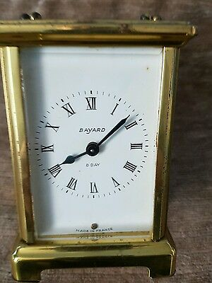 French Duverdrey & Bloquel 8 day 9 Jewelled Brass Cased Carriage Clock